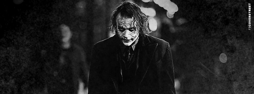 Heath Ledger The Joker Photograph Facebook Cover