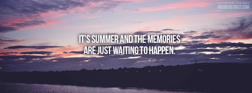 Summer Memories Facebook cover