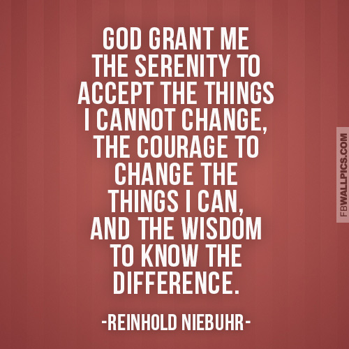 God Grant Me The Serenity Quote  Facebook picture
