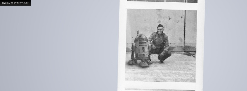 Vintage R2D2 On Set Photo  Facebook Cover