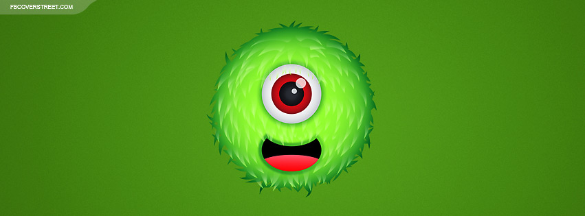 Cute One Eyed Monster Facebook cover
