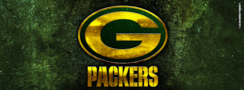 Green Bay Packers Grunge Logo  Facebook cover