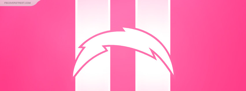 San Diego Chargers Dark Pink Logo Facebook cover