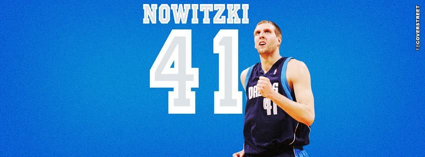 Dallas Mavericks Dirk Nowitzki  Facebook cover