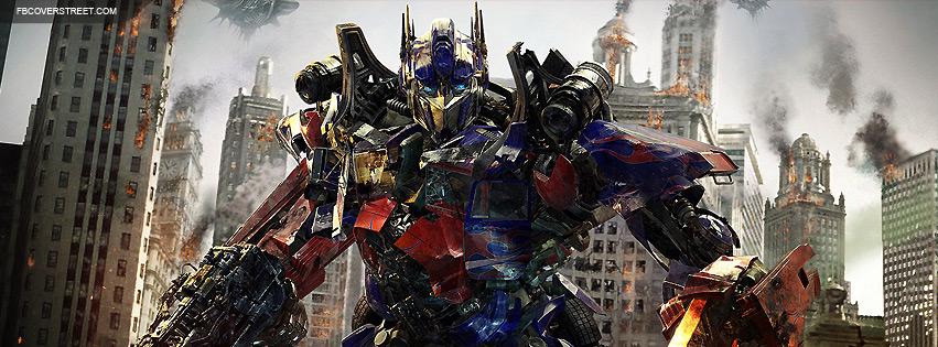 Transformers Dark Moon Optimus Prime Facebook Cover