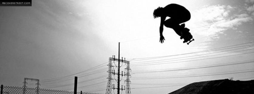 Skateboarder Big Air Photo  Facebook cover