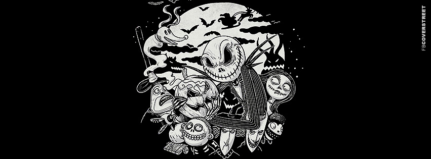 Jack Skellington Nightmare Before Christmas  Facebook Cover