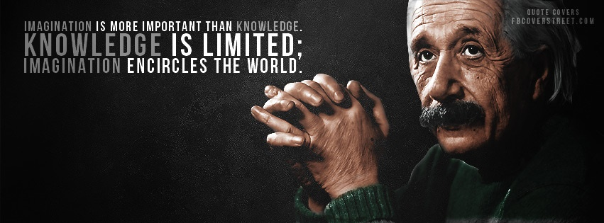 Albert Einstein Imagination Facebook cover