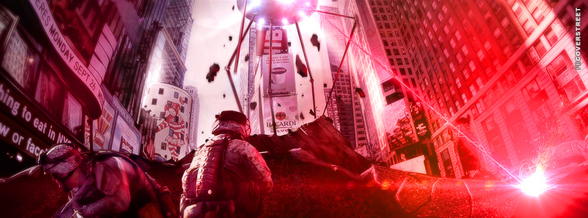 Battlefield 3 vs Aliens  Facebook Cover