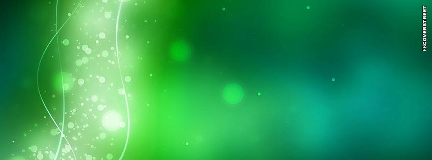 Green Bokeh Splash  Facebook cover