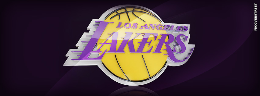 Los Angeles Lakers Modern Logo  Facebook cover