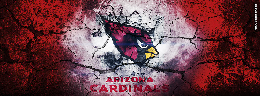Arizona Cardinals Grunged Logo  Facebook cover