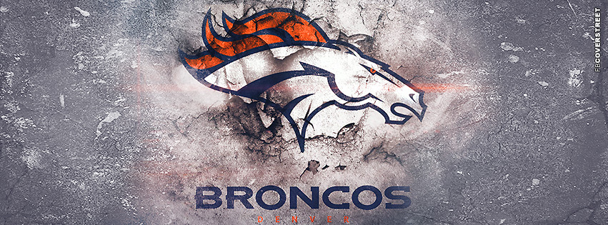 Denver Broncos Grunge Logo Facebook Cover