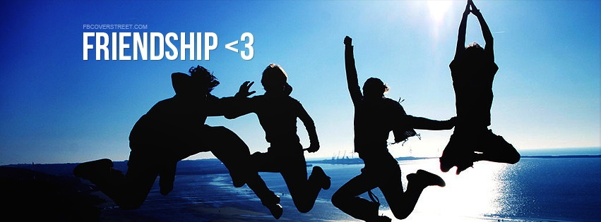 Friendship Friends Jumping Together Facebook Cover