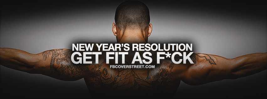 Get Fit New Years Resolution Facebook Cover