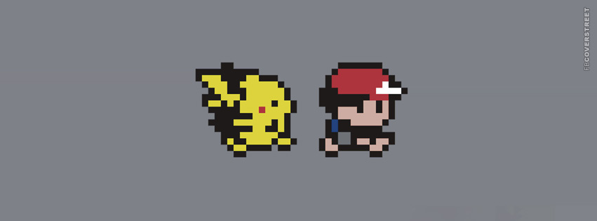 Pokemon Pikachu and Ash Ketchum  Facebook Cover