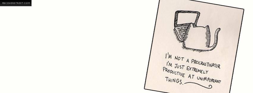Im Not a Procrastinator Cat Comic  Facebook cover