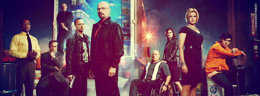 Breaking Bad Season 3 Cast  Facebook cover