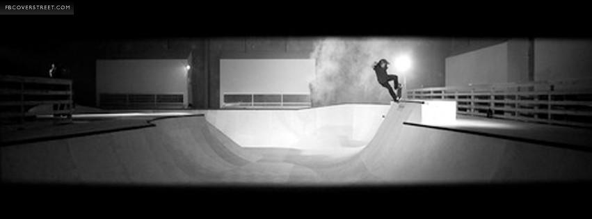 Skateboarding Frontside Overcrook on Bowl  Facebook cover