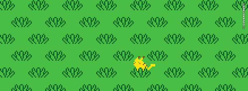 Pikachu Pokemon Hiding  Facebook cover