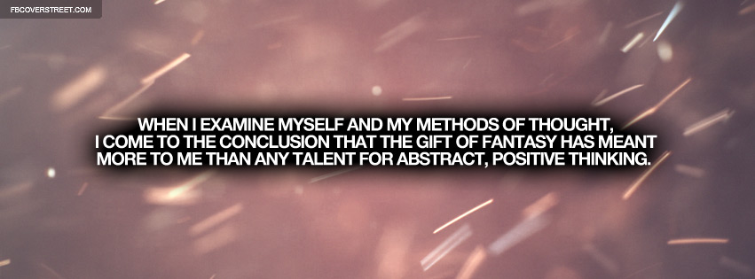 Abstract Positive Thinking Albert Einstein Quote Facebook cover