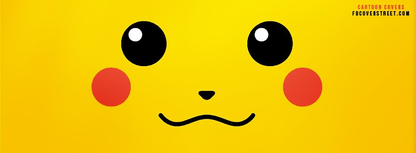 Pikachu Face Facebook Cover