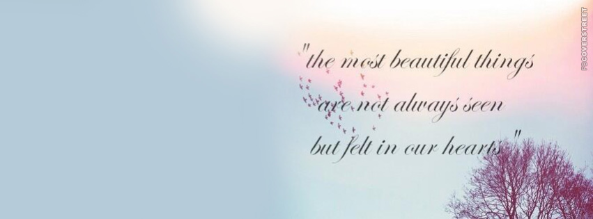 The Most Beautiful ThingsQuote Facebook Cover