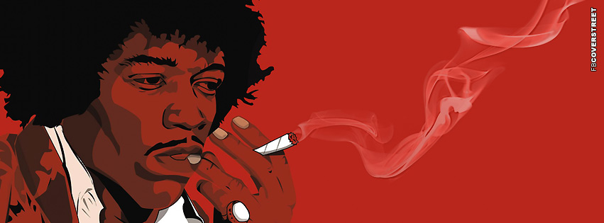 Hendrix Smoking a Joint  Facebook cover