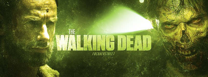 The Walking Dead Season 5 Rick and Zombie Facebook Cover