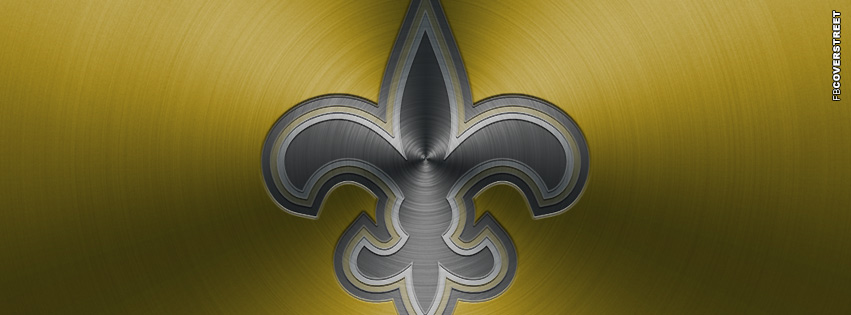 New Orleans Saints Aluminum Logo Facebook cover