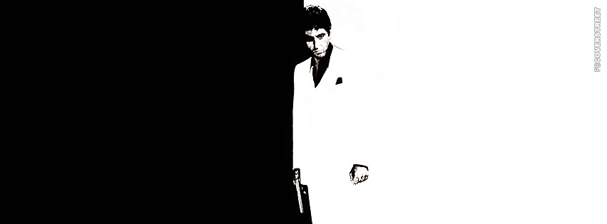 Scarface Black and White Double Facebook cover