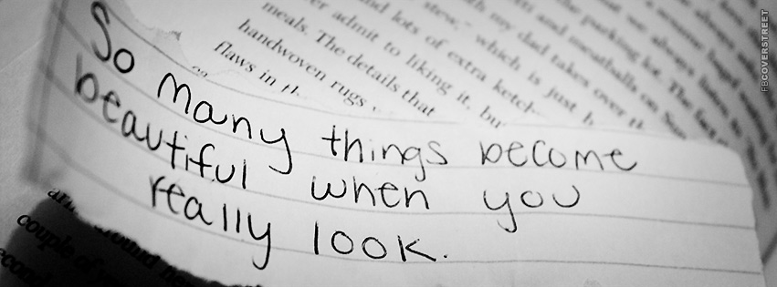 So Many Things Become Beautiful Quote  Facebook cover