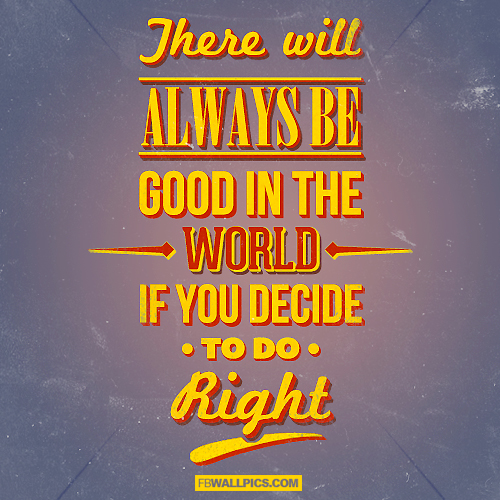 There Will Always Be Good In The World  Facebook picture