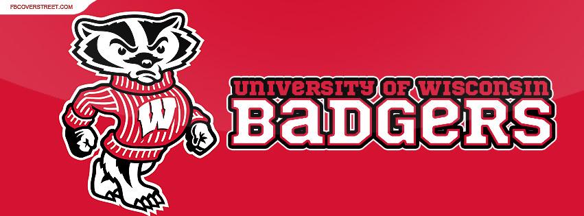 University of Wisconsin Badgers Logo Glare Facebook cover