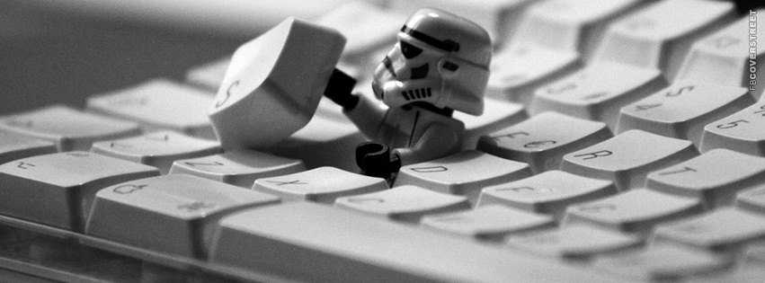 Imperial Stormtrooper Hiding In A Keyboard  Facebook cover