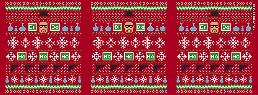 Breaking Bad Heisenberg Christmas Pattern  Facebook cover