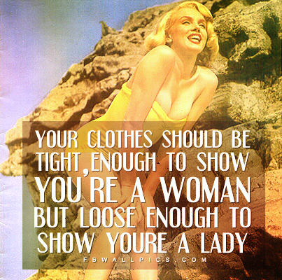 Marilyn Monroe Your Clothes Quote Facebook picture