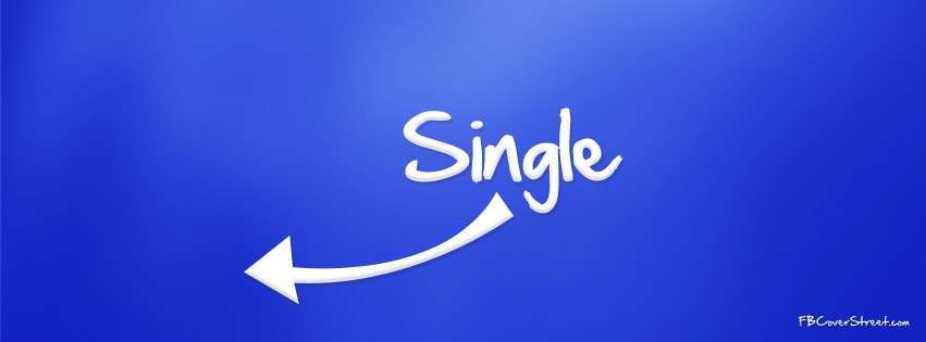 Single Blue Facebook Cover
