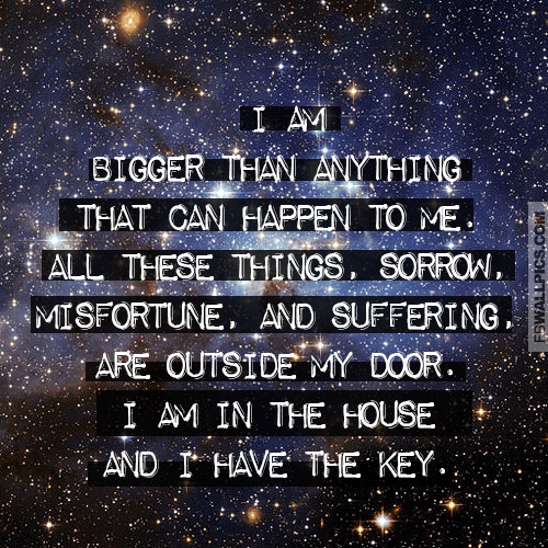 I Am Bigger Than Misery Inspiring Personal Quote Facebook picture