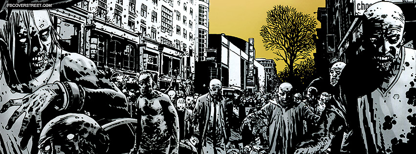 Zombie City Comic Drawing Facebook Cover