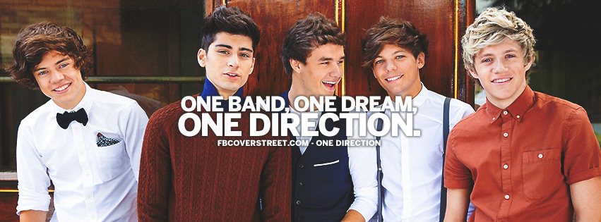 One Band One Dream One Direction Quote Facebook Cover