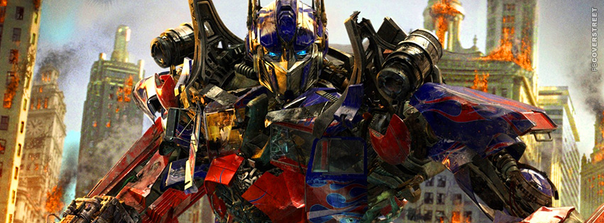 Transformers Optimus Prime Movie Facebook cover