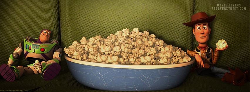 Toy Story Buzz and Wood Eating Popcorn Facebook cover