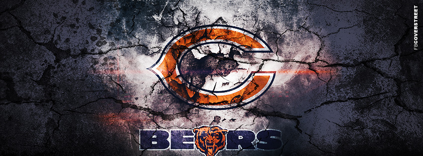 Chicago Bears Grunged Logo Facebook cover
