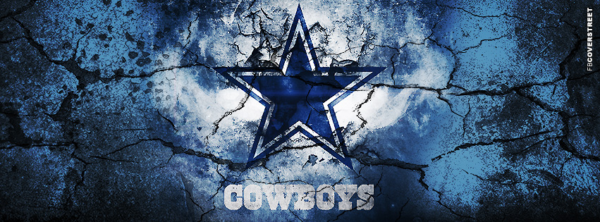 Dallas Cowboys Grunged Logo  Facebook cover