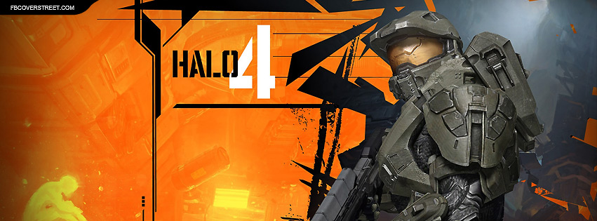 Halo 4 Master Chief Abstract Facebook Cover