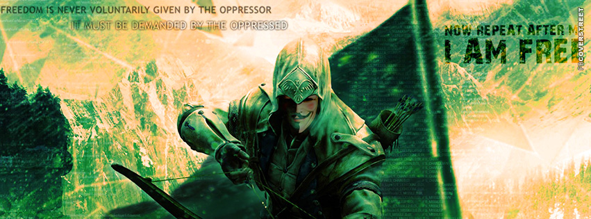 Assassins Creed Anonymous Freedom Facebook Cover