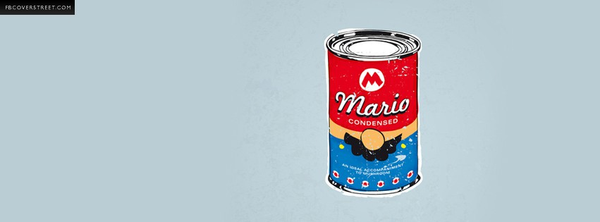 MariOs Super Mario Campbells Soup Spoof  Facebook cover