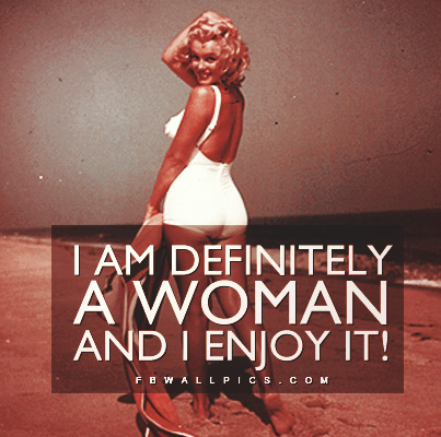 Marilyn Monroe Definitely A Woman Quote Facebook picture