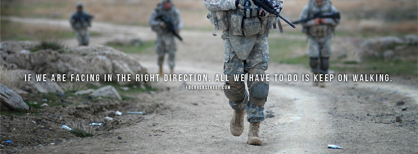 Walking In The Right Direction Facebook Cover